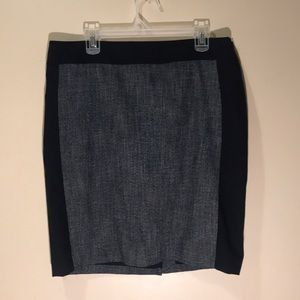 The Limited A-line skirt size 12 Blue w/ Navy Trim